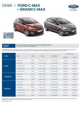 Stáhnout kompletní ceník Fordu C-MAX