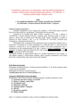 Jednání ZO j - Obec Tučapy
