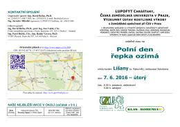 pozvanka na konferenci 2001 - Výzkumný ústav rostlinné výroby