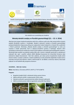 Metody detailní analýzy ve fluviální geomorfologii (21