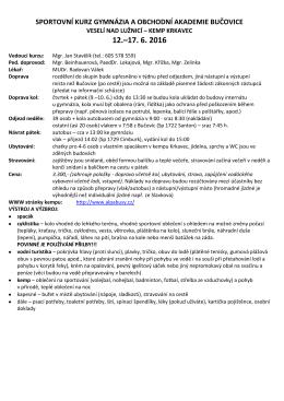 Pokyny k SPK - Obchodní akademie Bučovice