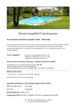 Městské koupaliště Česká Kamenice