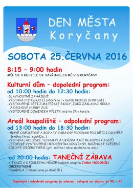 Den města Koryčany 25. 6.2016