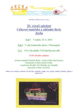 Pozvánka 20. výročí