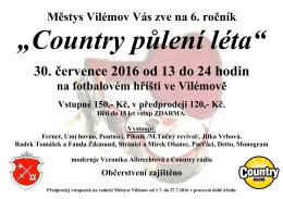 Country 2016 - Městys Vilémov