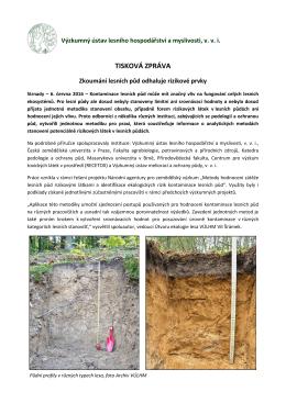 Zkoumání lesních půd odhaluje rizikové prvky