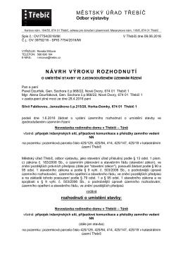 Novostavba RD v Třebíči