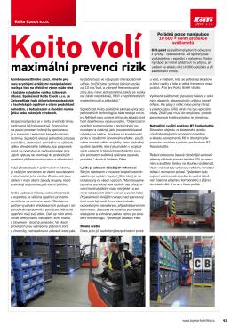maximální prevenci rizik - Toyota Material Handling CZ s.r.o.