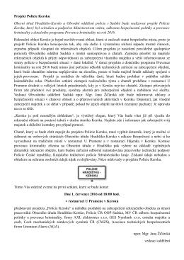 Projekt Policie Kersku Obecní úřad Hradištko