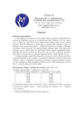 Detailní informace o dopravě v PDF
