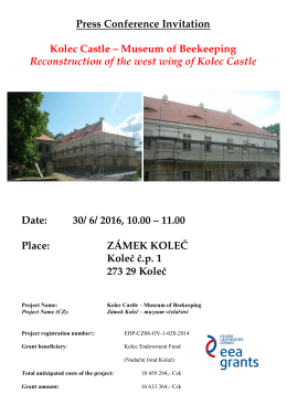 Press Conference Invitation Kolec Castle
