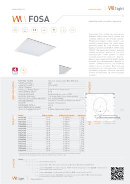 Katalogový list pro svítidlo FOSA