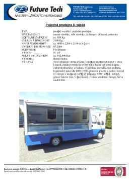 Pojízdná prodejna č. 58488 - Future