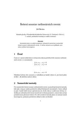 Soustavy nelineárních rovnic