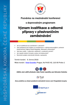 Význam kvalifikace a odborné přípravy v přeshraničním zaměstnávání