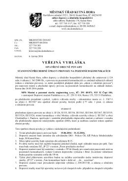630/16 - Městský úřad, Kutná Hora