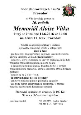 Memoriál Aloise Vítka