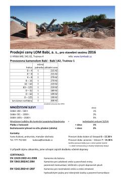 Ceník ke stažení v PDF zde