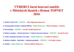 výherci jarní soutěže s firmou topnet 2016