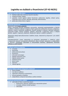 Logistika ve službách a finančnictví (37-42