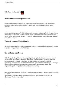 Feng-yűn Song - Tradičné feng shui