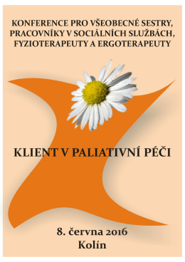 Konference pro všeobecné sestry, prac.v soc.službách