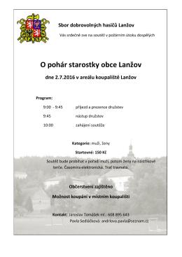 O pohár starostky obce Lanžov