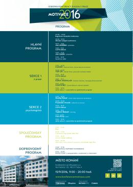 Vytisknout program - Odborná konference MOTIVACE 2016