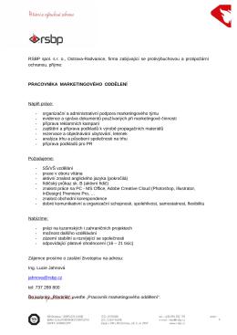 Inzerát ve formátu PDF