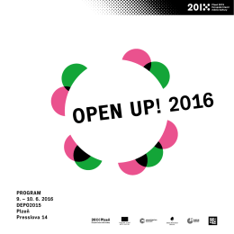OPEN UP! 2016