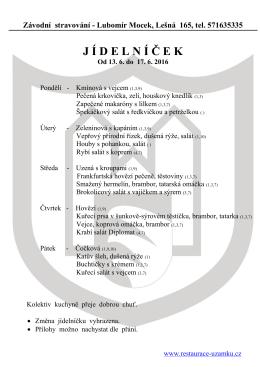 Týdenní menu ke stažení