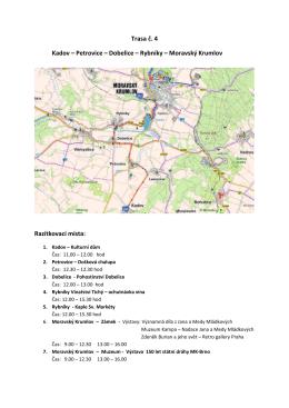 Moravskokrumlovsko na kole trasa č. 4