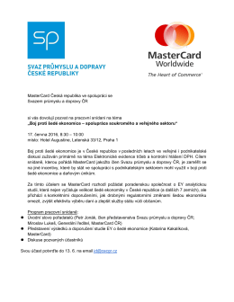 Snidane MC-SPCR 2015.docx - Svaz průmyslu a dopravy České