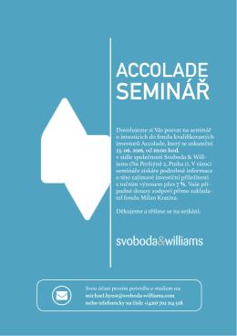 seminář - Svoboda & Williams