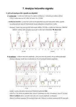 7. Analýza řečového signálu