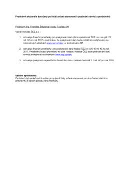 Protinávrh akcionáře doručený po lhůtě určené