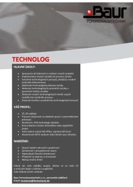 technolog - Baur Formschaumtechnik