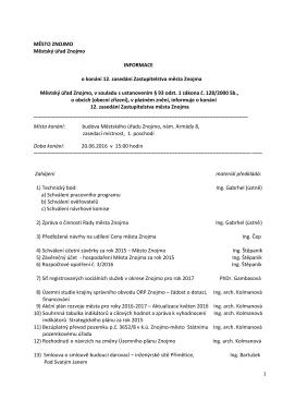 Program jednání zastupitelstva