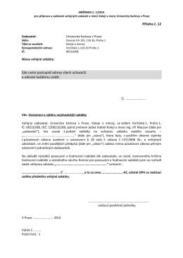 Příloha č 12 ke Směrnici č 1-2014 - Oznámení o
