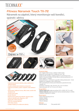 Fitness Armband Touch TX-72 CZ