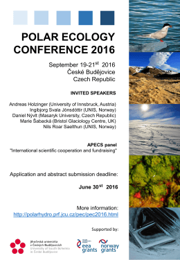 polar ecology conference 2016