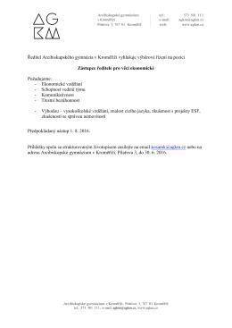 Bližší informace - Arcibiskupské gymnázium v Kroměříži