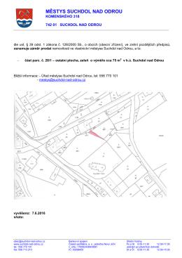 Záměr městyse - prodej část 28-1