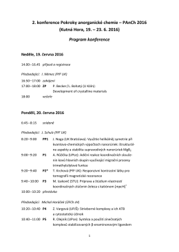 Podrobný program konference v PDF formátu