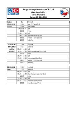 Program reprezentace ČR U16