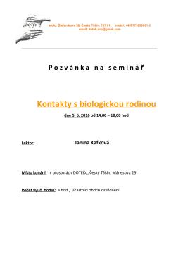 Kontakty s biologickou rodinou