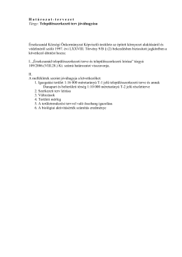 Településszerkezeti terv jóváhagyása - határozat