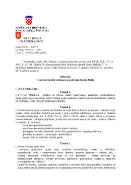 Odluka o nerazvrstanim cestama na području Grada Ozlja