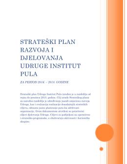 Strateški plan 2016. - Pula