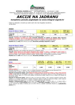 akcije na jadranu - Integral Zagreb doo
